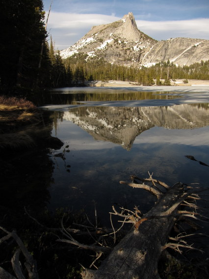 Reflection of Cathedral Peak from Lower Cathedral Lake