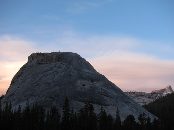 Last Light on Cathedral Peak from Pywiack Dome