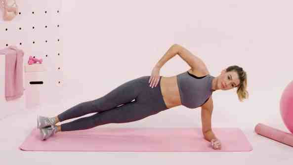side plank for losing back fat