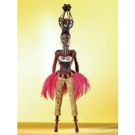 "TANO BARBIE DOLL-TREASURES OF AFRICA COLLECTION BY BYRON LARS-GODL LABEL DOLL $124.99 ON AMAZON.COM,UNDER BLACK BARBIE DOLLS UNDER ""TOYS AND GAMES"""