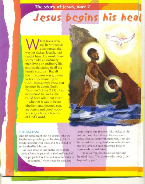 from THE CHRISTIAN SCIENCE SENTINEL,SEPT.262005,PAGE22-BLACK JOHN THE BAPTIST BAPTIZES HIS BLACK COUSIN JESUS CHRIST!