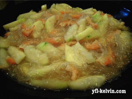 粉絲蝦米節瓜煲