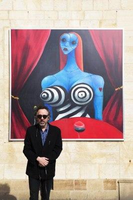 Tim Burton at his World of Tim Burton Prague Exhibit