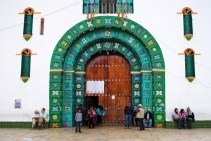 Church in Chamula - typical on the outside, not so typical inside