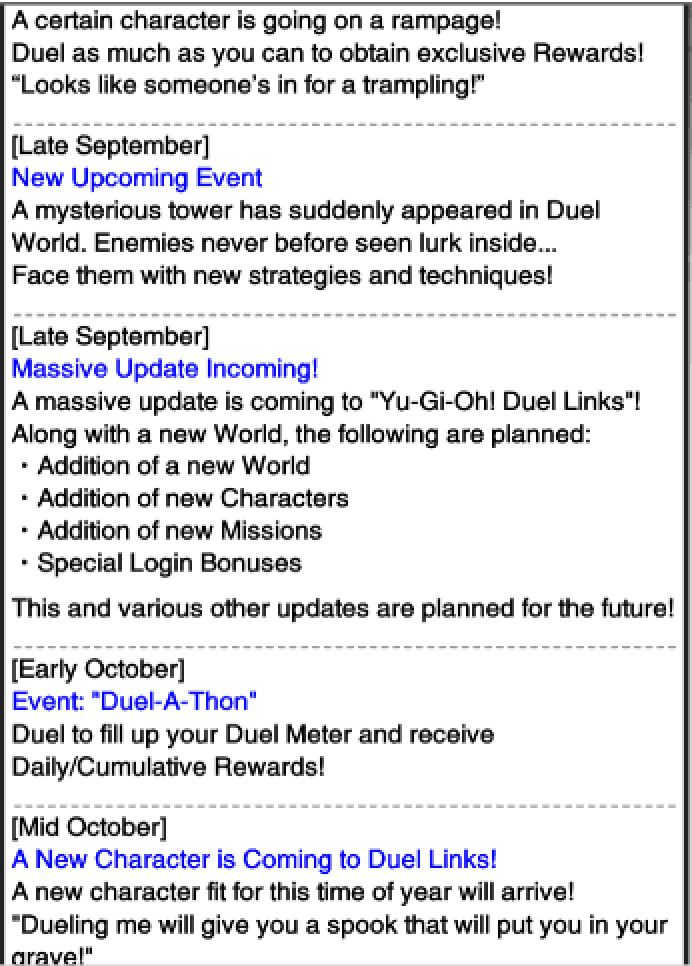 The Organization   [Duel Links] Upcoming Events and Updates