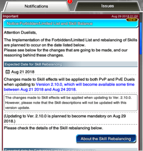 The Organization | [Duel Links] Forbidden/Limited List