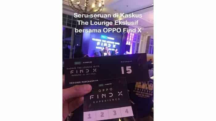 Seru-seruan di Kaskus The Lounge Ekslusif bersama OPPO Find X