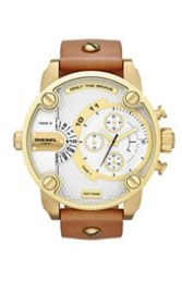 'Little Daddy' Chronograph Leather Strap Watch, $196.90