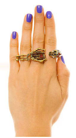 Chilly Bones Three Finger Ring, $21.00