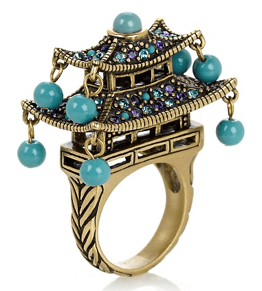 """Imperial Pagoda"" Crystal-Accented Statement Ring, $79.99"