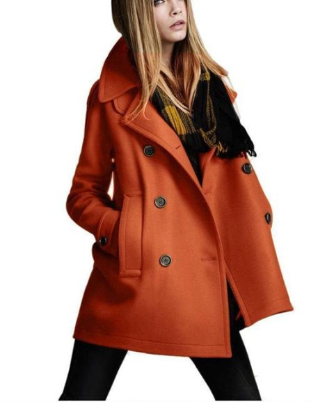 Women's Orange Coat, $58.00
