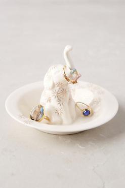 Anthropologie: Bathing Elephant Trinket Dish, $16