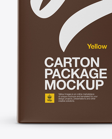 Download Carton Package Psd Mockup Front View Yellowimages