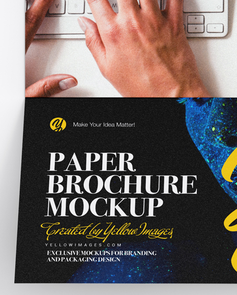 Download Free Brochure Mockups Yellow Images