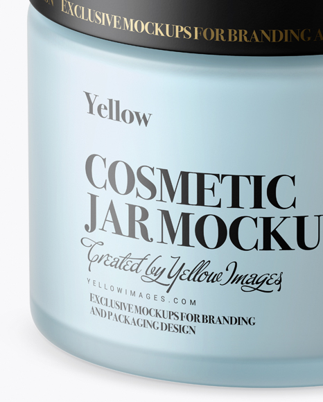 Download Cosmetic Glass Jar Mockup Yellowimages