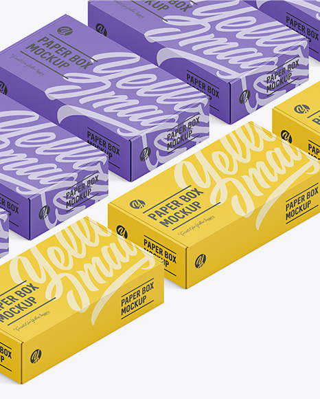 Download Two Matte Boxes Psd Mockup Yellowimages