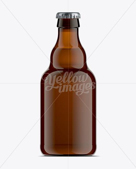 Download Matte Metallic Vintage Beer Bottle Psd Mockup Yellowimages