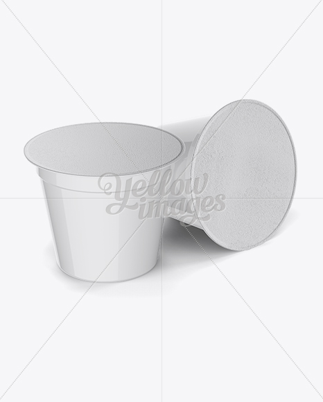 Download Plastic Soup Cup Front View High Angle Shot Yellow Images