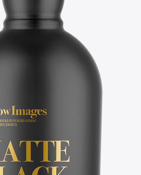 Download Matte Black Bottle Mockup Yellowimages