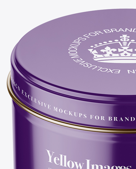 Download Glossy Round Cosmetic Tin Can Psd Mockup Yellowimages