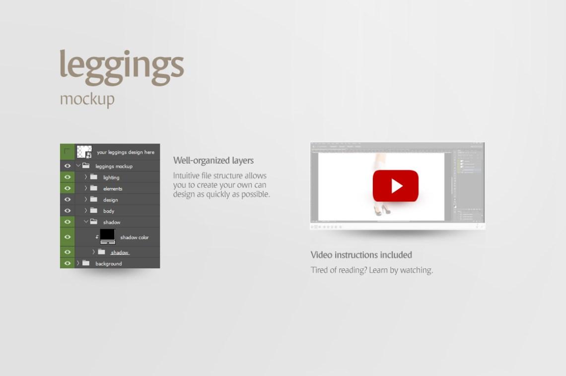 Download Free Leggings Mockup Generator Yellowimages