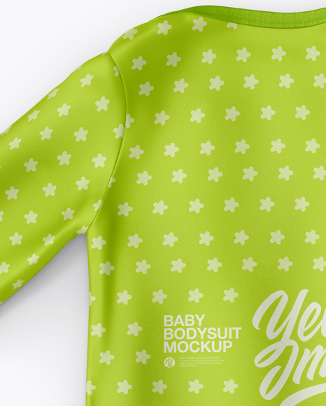 Download Baby Bodysuit Mockup Back Side Half Side View Yellowimages
