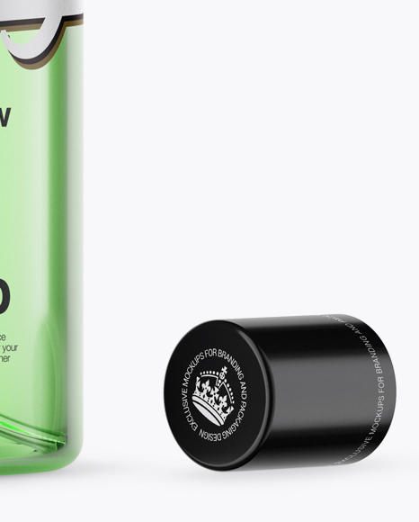 Download Green Spray Bottle Psd Mockup Yellow Images
