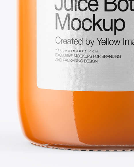 Download Juice Bottle Psd Mockup Yellow Images