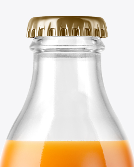 Download Clear Glass Bottle Carrot Juice Psd Mockup Yellow Images