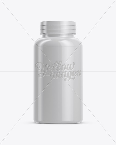 Download Glossy Pills Bottle With Shrink Sleeve Psd Mockup Yellowimages