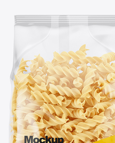 Download Fusilli Pasta Package Psd Mockup Yellowimages