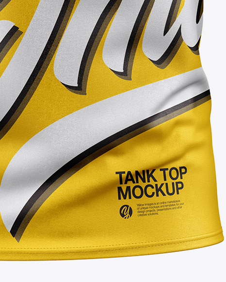 Download Baggy Tank Top Mockup Front View Yellowimages