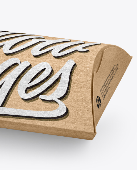kraft paper pillow box mockup in box mockups on yellow images object mockups