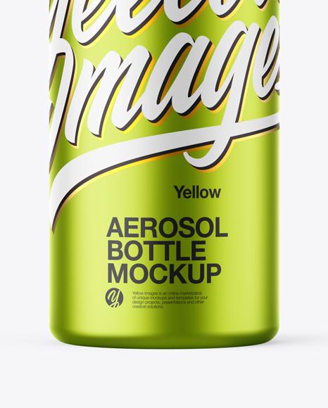 Download Metallized Aerosol Psd Mockup Yellowimages