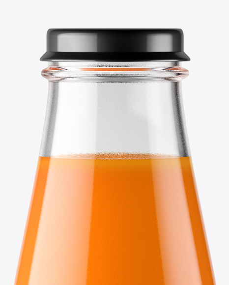 Download Clear Glass Bottle Carrot Juice Psd Mockup Yellowimages