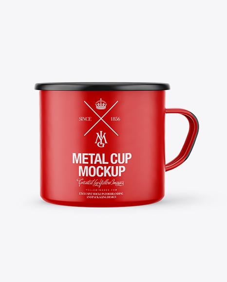 Download Metallic Enamel Cup Psd Mockup Yellowimages
