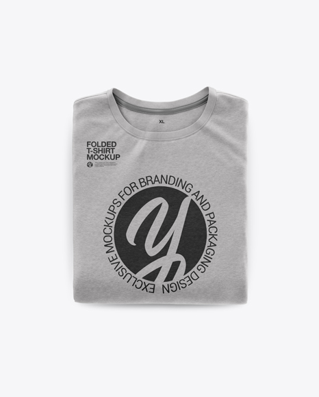 Download Black Folded Shirt Mockup Yellowimages