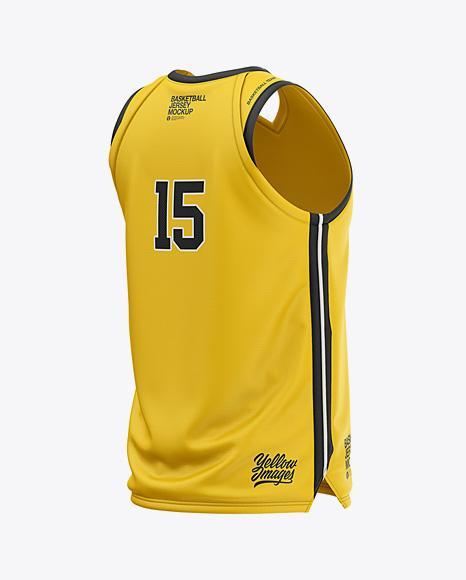 Download Baseball Sleeveless Shirt Mockup Front View Yellow Images