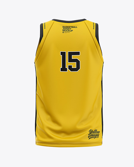 Download Men's V-Neck Basketball Jersey Mockup - Back View in ...
