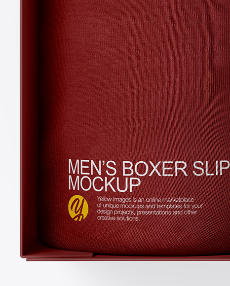 Download Man Boxer Mockup Yellowimages