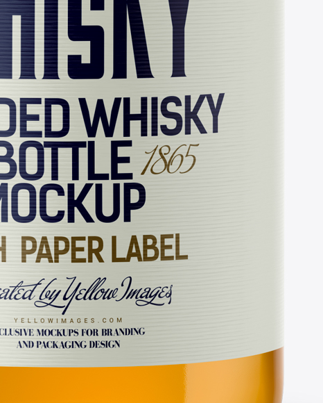 Download Bottle Close Up Mockup Yellowimages