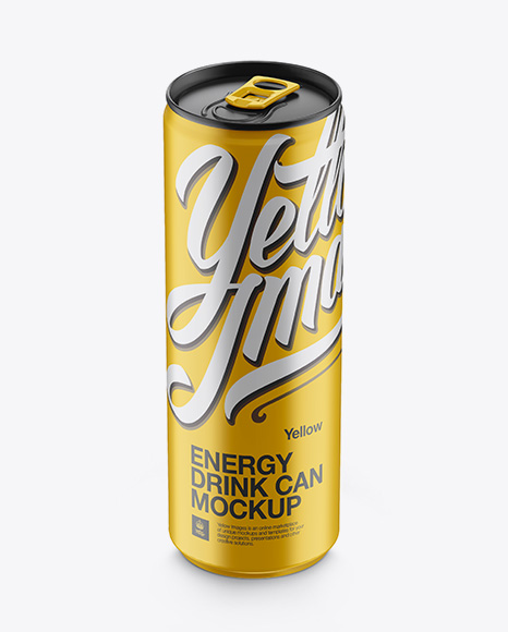 Download Matte Aluminium Drink Can Psd Mockup Yellowimages