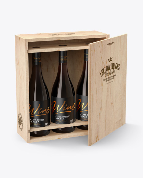Download Wine Bottle In Kraft Paper Wrap Psd Mockup Yellowimages