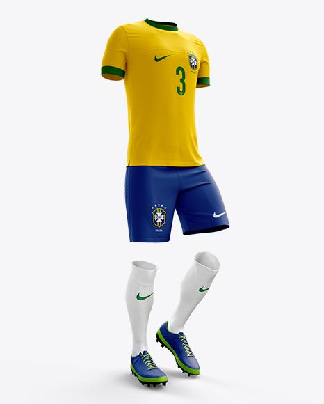 Download Full Soccer Kit Halfside View Jersey Mockup PSD File 39.71 ...
