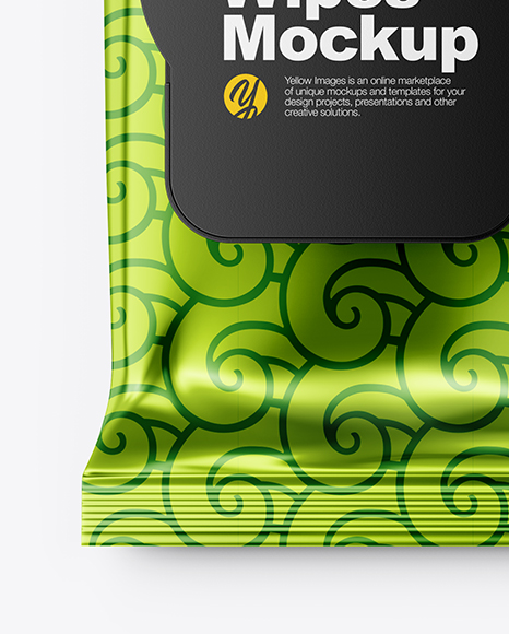 Download Glossy Wet Wipes Psd Mockup Yellowimages