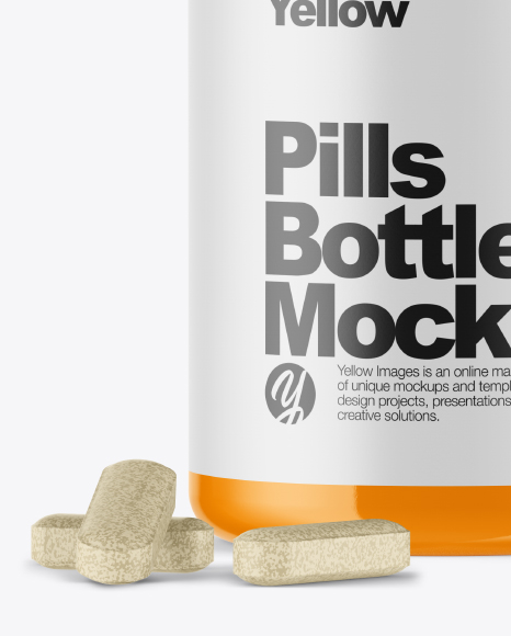 Download Glossy Box Pills Psd Mockup Yellowimages