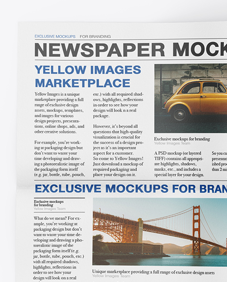 Download Newspaper Ad Mockup Free Download Yellowimages