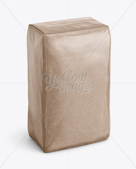 Download Paper Bag Psd Mockup Half Side View High Angle Shot Yellow Images