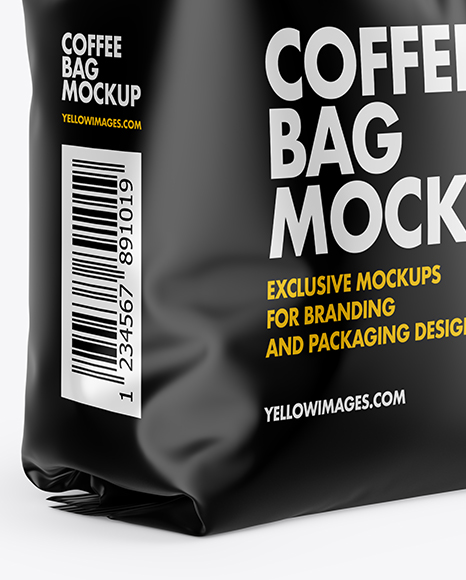 Download Free Mockup Coffee Bag Yellow Images