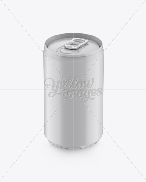 Download Matte Aluminium Drink Can Psd Mockup Yellow Images